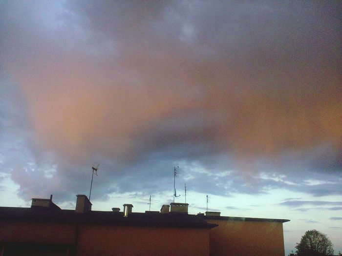 Yesterday Night Clouds And Sky