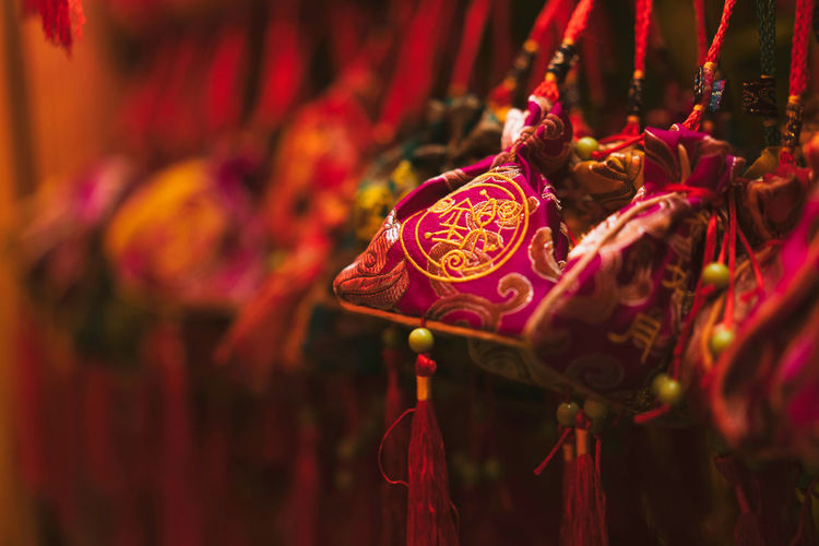 Blessing, wishing, Chinese culture China Landscape Blessing Wishing Chinese Culture Night Red Close-up No People Art And Craft Focus On Foreground Selective Focus Celebration Craft Hanging Decoration Chinese New Year Ornate