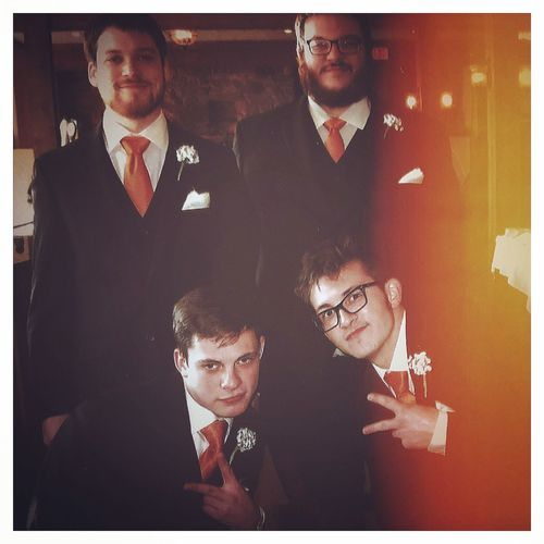 Sisters wedding. So much fun. Got to see all the fam Suited Up Wedding