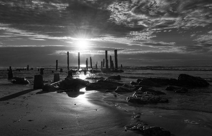 Sand Day Beach Water Sun Sea Sky Sunlight Sunbeam Horizon Over Water Nature Outdoors Cloud - Sky Beauty In Nature Scenics