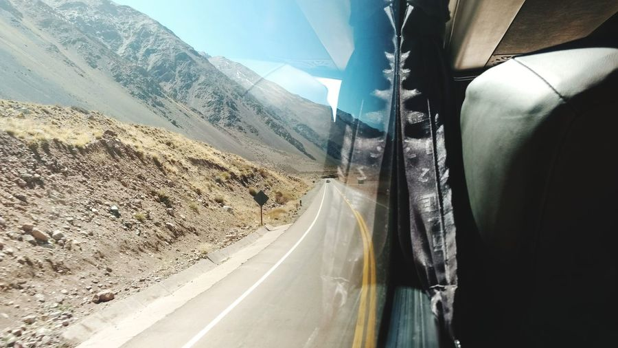 Car Transportation Wet Mountain Travel Landscape Road Water Mountain Range Cloud - Sky Outdoors Curve No People Day Sky Winding Road Nature Tire Chile Argentina