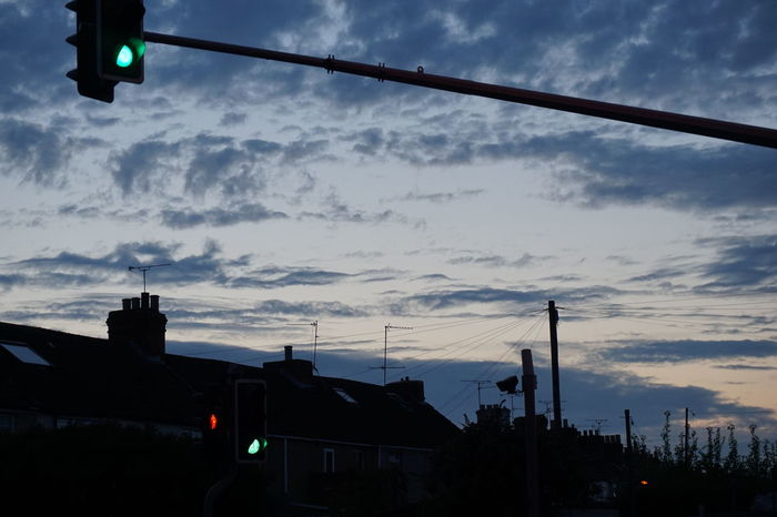 Swindon Dusk Sky Rooftop Green Traffic Lights Clouds And Sky No One Trees And Sky Clouds Blue Cities At Night Embrace Urban Life Welcome To Black