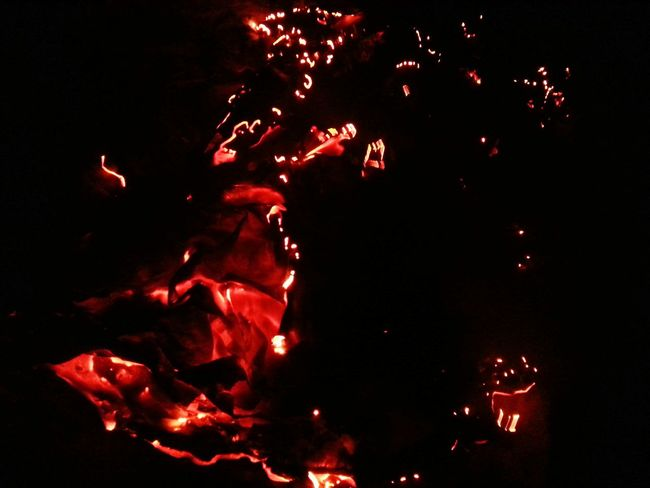 Red No People Night Celebration Outdoors Space Black Background Close-up Astronomy Paperburnt Darkness And Light Fire