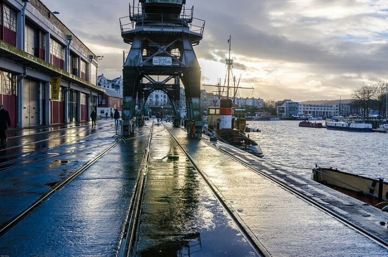 Sky Water Outdoors Taking Photos Boat Boats⛵️ Bristol Cranes M Shed Bristol The Matthew