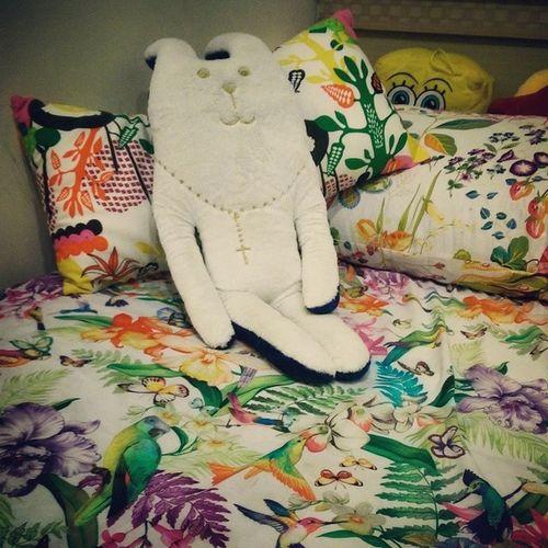 兔子的新歡!夏天就是要花花草草生氣蓬勃春意盎然自強不息啊!姊反覆看了好幾個月才終於下手!2014最想要的??? Zarahome Flatsheet Pillowcases Tropical summer craftholic rabbit ikea spongebob favorite mybed