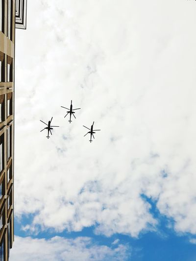 Three military