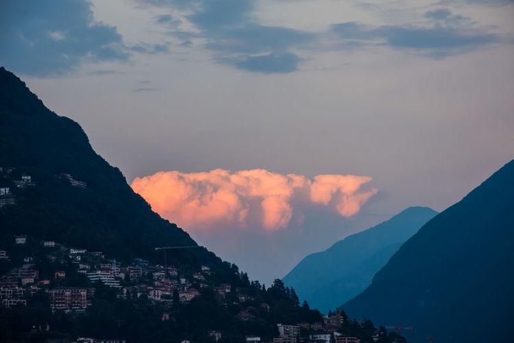 Cloud Clouds Mountain Mountain Range Sky Sunrise Colour Of Life