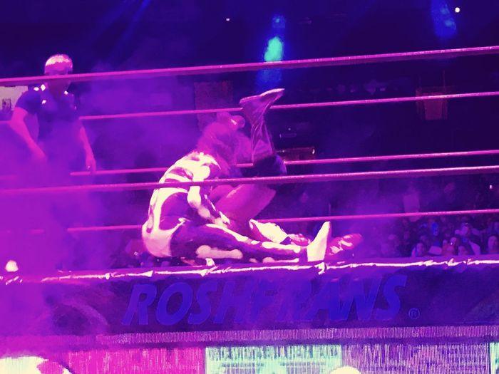 Wemen wrestling at Arena México Wemen Wrestling Illuminated Night People Communication Real People Performance