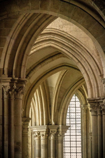 Arch Architectural Column Architecture Built Structure Church Day History Indoors  Monastery No People Vezelay