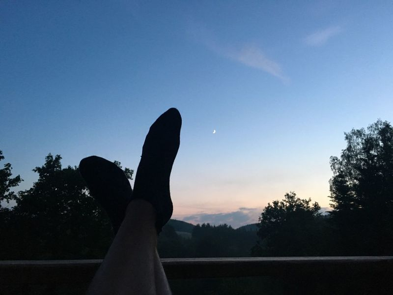 Relax Enjoying Life Enjoy Relaxing Relaxing Moments Ardennes Belgium Belgique Ardennen One Life Live It Idyllic Idyllic Scenery Travel Travelling Traveling Travel Photography Moon Sunset Nightfall Feet Relaxing Time Relax Time  Enjoying The View Sunset_collection Sunset Silhouettes