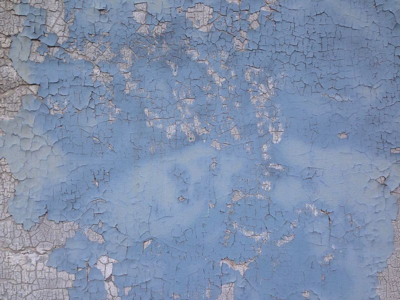 Transient Wall Old Blue Paint Exfoliating Worn Out & Wonderful  Abstract Background