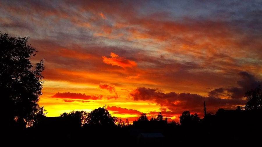 burning sky ..