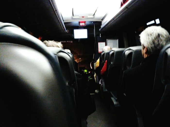 On a country bus Vehicle Interior Transportation Bus Country Life Bus Eireann Adult Vehicle Seat Adults Only People Sitting Night Warm Clothing Men And Women Mizen Peninsula West Cork Wildatlanticway Ireland Yotaphone 2