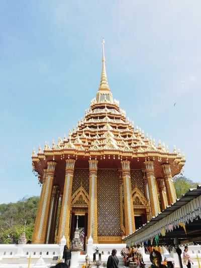 Place Of Worship Religion City Gold Sky Architecture Building Exterior Built Structure Civilization Pagoda Buddhist Temple Ancient Historic