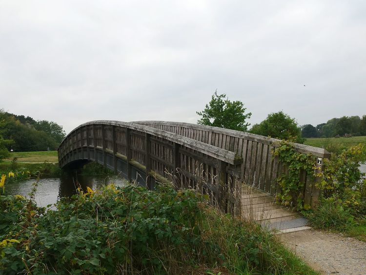 Horizontal Tree Water Outdoors No People Nature Sky Day River Wooden Bridge Grasses Cloudy Day Built Structure Landscape Scenic Riverside Nature And Architecture In Harmony Ladyphotographerofthemonth Nature Ise Gifhorn Pathway Beauty In Nature POV Miles Away