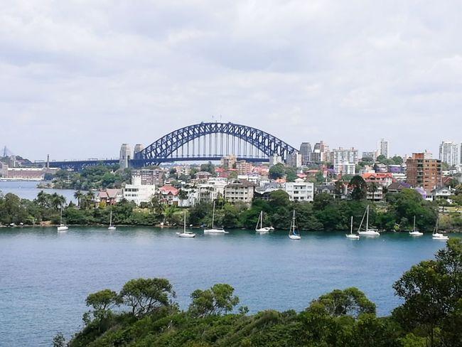 Sydney harbour bridge Waterfront Metalwork Historical Site Water Famous Architecture Famous Landmarks