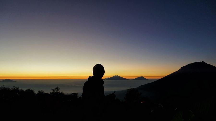 Sunrise at mount sindoro