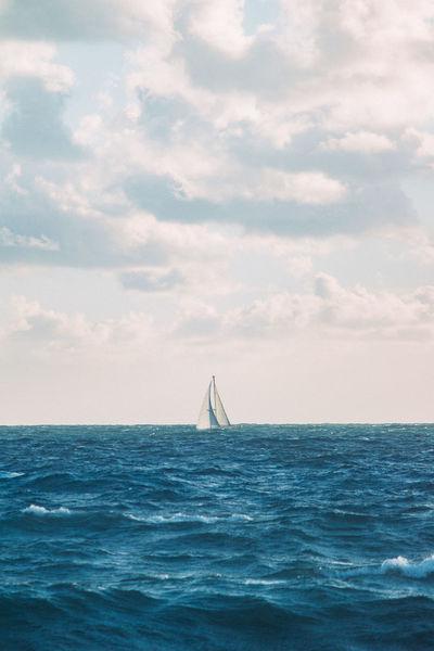 Florida Sailing Sea Nautical Vessel Sailing Travel Water Sky Outdoors Adventure Day No People Sailboat Vacations Nature Horizon Over Water