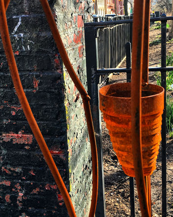 Sculpture Close-up Day High Angle View Metal No People Orange Color Outdoors Sculpture