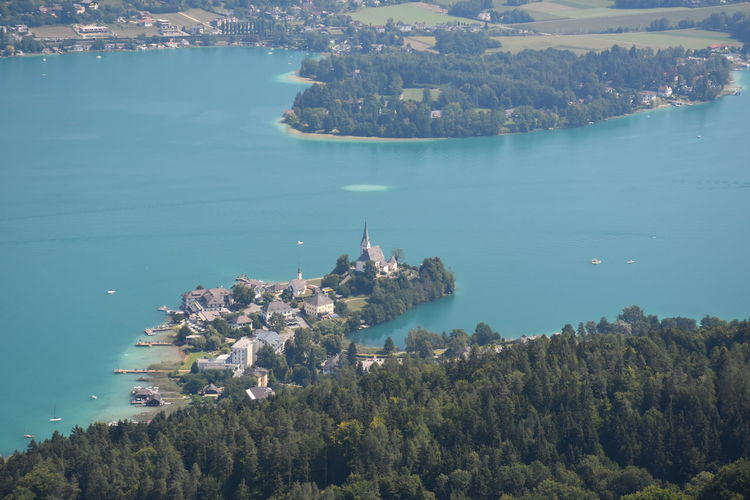 Austria Klagenfurt Am Wörthersee Lake Maria Wörth Wörthersee