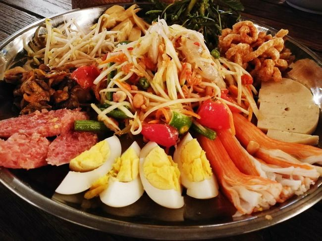 Food And Drink Food Ready-to-eat Freshness No People Healthy Eating Indoors  Plate Indulgence Seafood Close-up Appetizer Day ตำถาด
