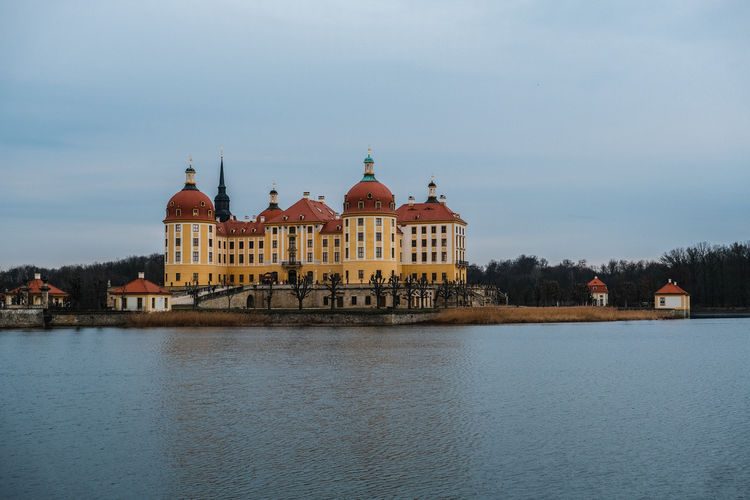 Building Exterior Architecture Built Structure Water Building Waterfront Sky Nature No People Travel Destinations The Past River History City Travel Day Dome Religion Tourism Outdoors Moritzburg  Color Chrome