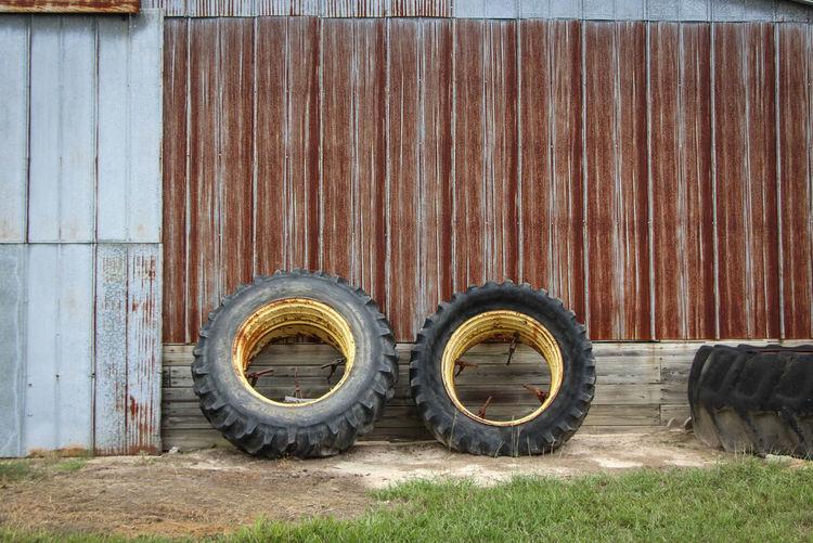 Tires Outside Garage