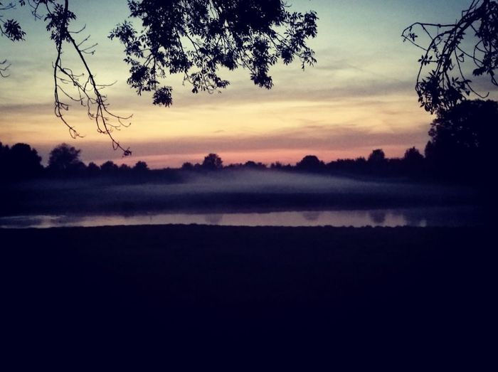 Landscape Reflection Sunset Morning Lake Nature Beauty In Nature Tree Scenics Fog Sky Outdoors Multi Colored Lost In The Landscape Been There.