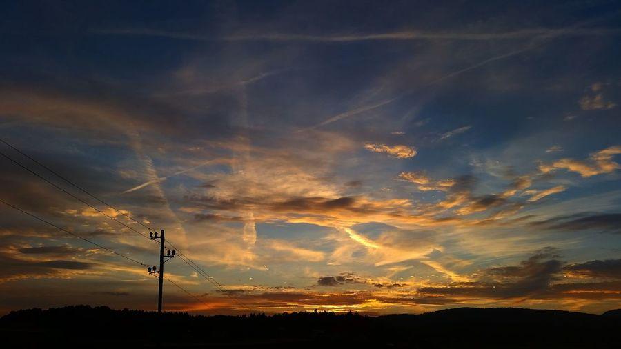 Sunset Golden Sky Skyline 43 Golden Moments