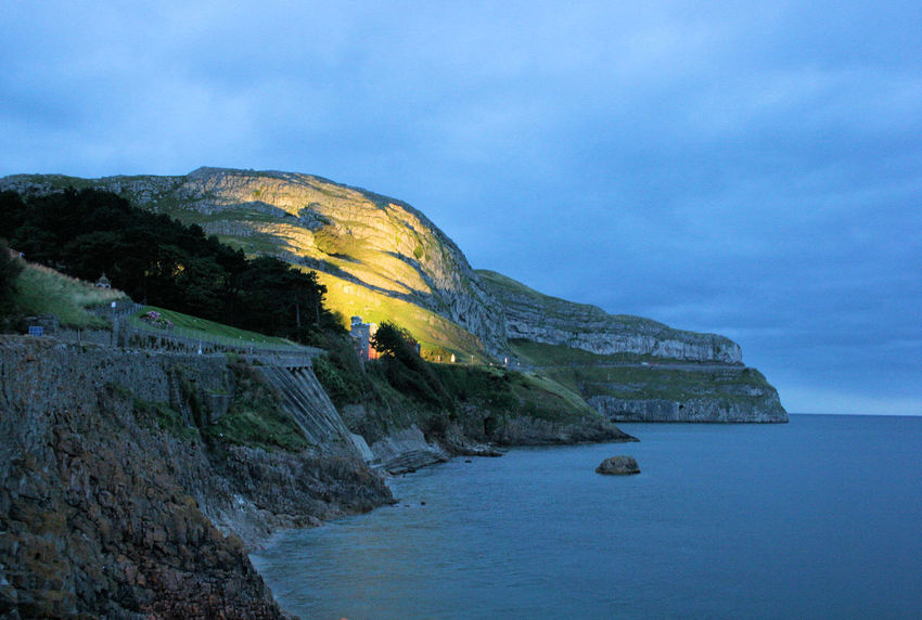 Beauty In Nature Great Orme Landscape Llundudno Nature Night Night Photography Outdoors Rock - Object Rock Formation Scenics Sea Tranquil Scene Wales Water