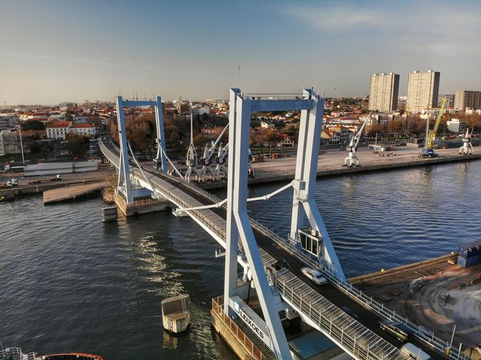 The harbor bridge south view DJI X Eyeem DJI Mavic Air Drone Photograph River Harbor Water Architecture Built Structure Building Exterior City Sky Transportation Bridge - Man Made Structure Bridge Building Travel Destinations Tourism Travel No People Cityscape River Connection Nature Day Outdoors