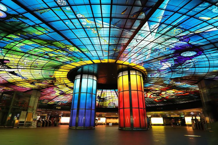 Colour Of Life Station City Glass Formasaboulevard Art Spiral Streetphotography Built Structure Kaohsiung Taiwan The View And The Spirit Of Taiwan 台灣景 台灣情