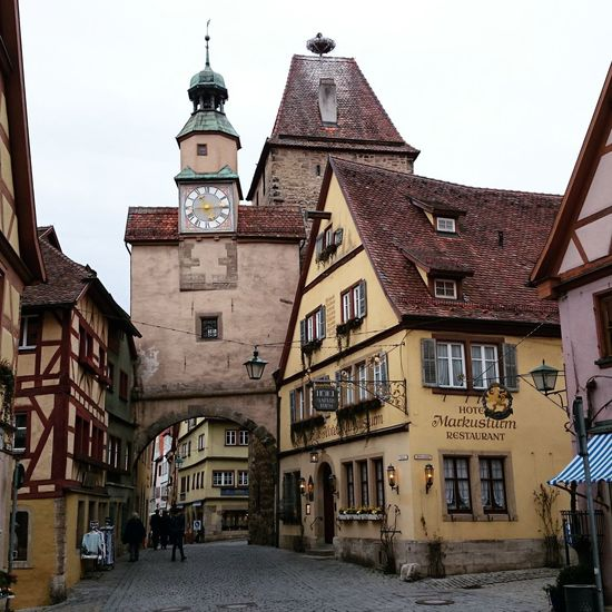 Deutschland Germany Historic Old Town Rothenburg Rothenburg Ob Der Tauber