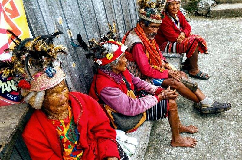 Igorot Old People Adult Celebration Clothing Day Group Group Of People Indigenous People Indiginous Leisure Activity Lifestyles Medium Group Of People Men Old Asian Men Old Asian Woman Outdoors People Real People Sitting Standing Traditional Clothing Tribe Women The Troublemakers The Portraitist - 2018 EyeEm Awards