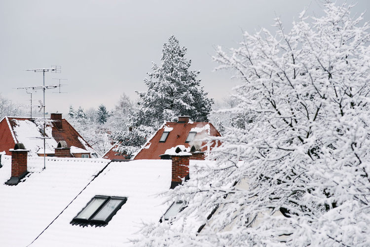 Photos taken in Germany's snowy winter - 2018 City Rooftop Trees Winter Beauty In Nature Building Exterior Built Structure Cloud - Sky Cold Temperature Day Europe Germany Nature No People Outdoors Red And White Sky Snow Snowing Snowy Rooftop Tiled Roof  Trees And Sky Winter