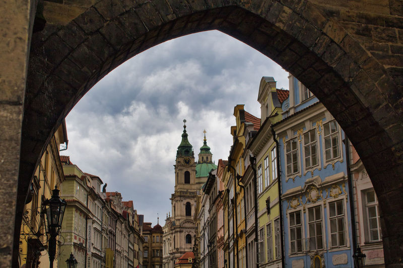 Architecture Built Structure Building Exterior Building Low Angle View Cloud - Sky Arch Sky City No People Nature Day The Past History Travel Destinations Religion Old Residential District Belief Window Outdoors Streetphotography Street Photography Street Prague