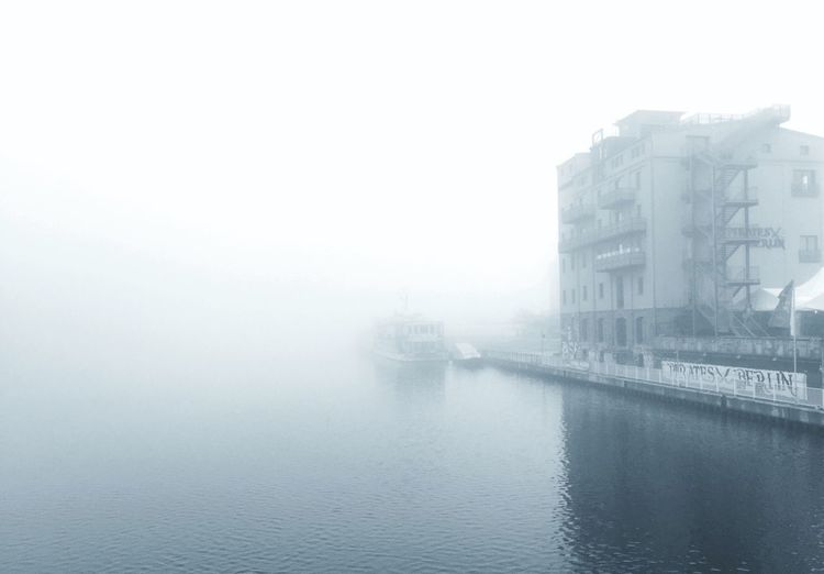 Water Architecture Built Structure Waterfront Building Exterior Reflection Outdoors Nautical Vessel Day No People City My Fuckin Berlin Haze Fog Limited Copy Space Riverside Grey Blackandwhite Hazy Days Shootermag The City Light