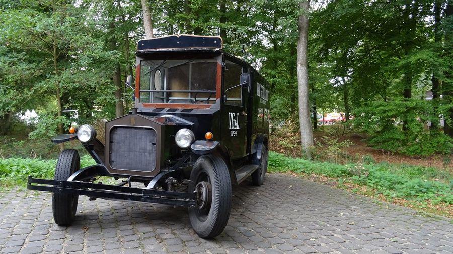 Classic Car Classic Truck Classic Van Tree Land Vehicle Truck Semi-truck Parking