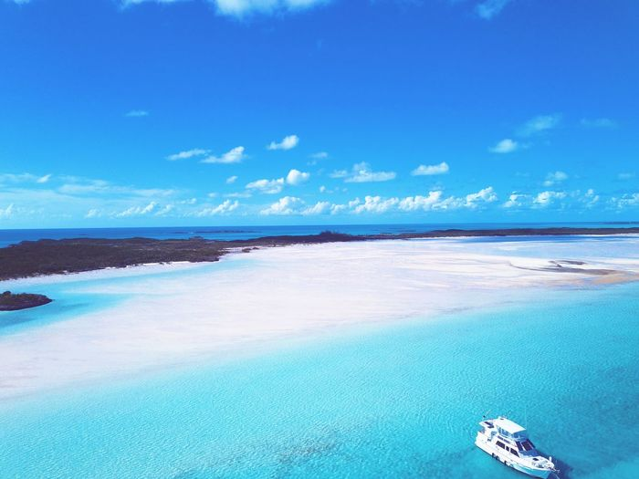 relax. EyeEm Selects Sea Beach Water Blue Sky Nature Scenics Travel Sand Cloud - Sky Summer Outdoors Vacations Travel Destinations Tranquility Beauty In Nature Aerial View Beauty Day Nautical Vessel