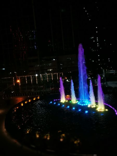 Fountain Fountain_collection No People Night Nightphotography Night Lights Night Photography Nightscape Water Fountain Water Lights Night Glow Outdoors