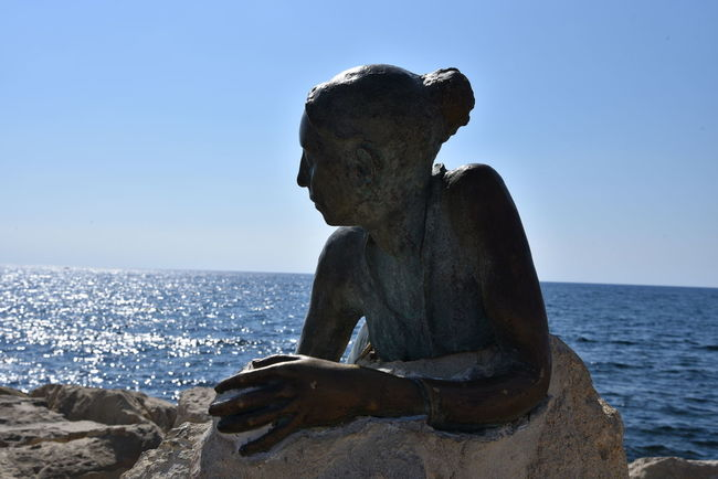 Cyprus Paphos Castle Paphos Cyprus Skulptur Zypern Art And Craft Beauty In Nature Clear Sky Close-up Day Horizon Over Water Human Representation Nature No People Outdoors Rock - Object Scenics Sculpture Sea Sky Statue Tranquil Scene Tranquility Water