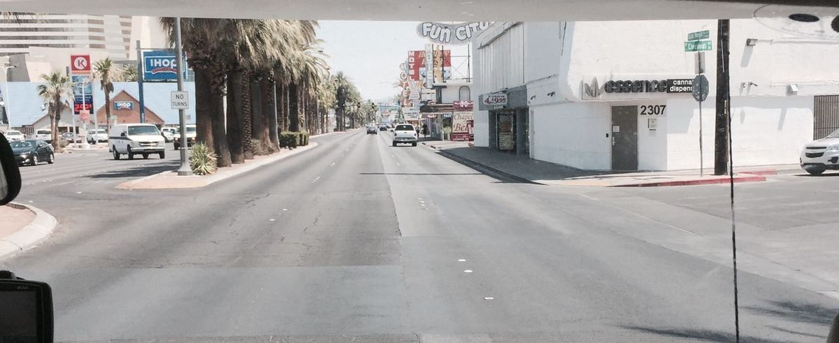 •Las Vegas• Las Vegas Transportation Car Motor Vehicle Mode Of Transportation City Street Road The Way Forward Land Vehicle Architecture City Street No People Sunlight Nature Sign EyeEmNewHere