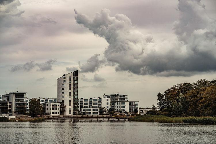 Varvsholmen Architecture Building Building Exterior Built Structure Cloud - Sky Kalmar Sky Water