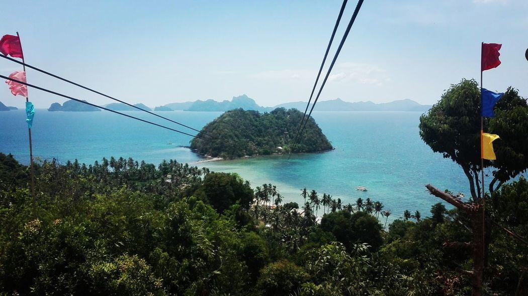 Low life Zipline Adventure Beauty In Nature Panoramic Sea Philippines Photos Palm Trees ElNidoIslands Palawanadventures