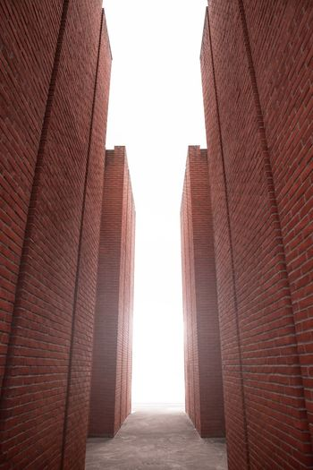Architecture Built Structure Building Exterior Sky Day Building No People City Sunlight The Way Forward Direction Pattern Clear Sky Low Angle View Outdoors Diminishing Perspective Travel Destinations Brick