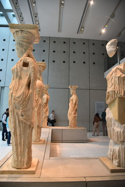 AcropolisMuseum Arts Culture And Entertainment Cariatides Day Greece Vacation Greek Ancient Art Indoors  Museum No People Occupation Photos Now Sculpture Statue