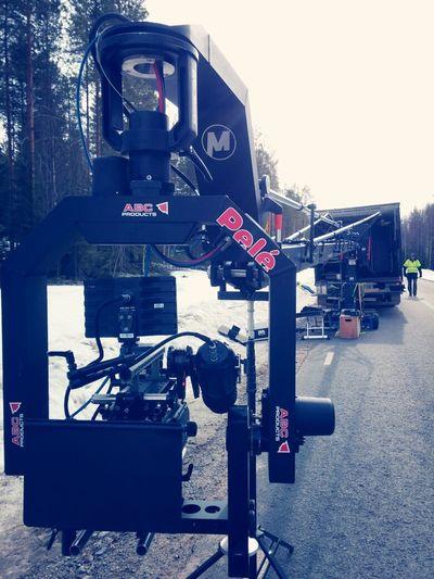 dagens inspelningsplats på reklamfilmen. middle of no wear, Focus Puller Commercial Life On Set 1-AC Crane I Love My Job! Red One