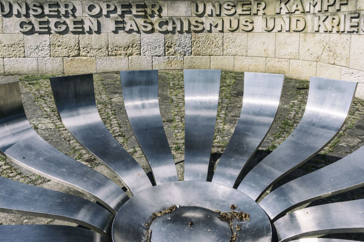 Anti-war and anti-fascism memorial at state park Unity Square Architecture Germany 🇩🇪 Deutschland Horizontal Memorial Potsdam Unity Square Wall Anti-facism Anti-fascism Anti-War Close-up Color Image Communication Day High Angle View Metal No People Outdoors Sculpture State Park  Technology Text