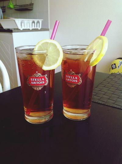 Am I the best girlfriend or what?! Home made iced sweettea :D Icetea Sweet Tea Enjoying Life <3