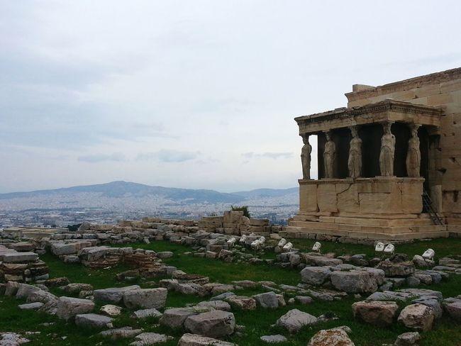 Athens Acropolis Caryatid Caryatids Greece Archaeology Statues View Travel Eye4photography